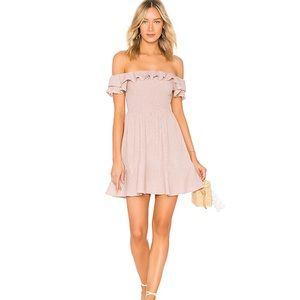 Revolve Smocked Bodice Dress Off-the-Shoulder
